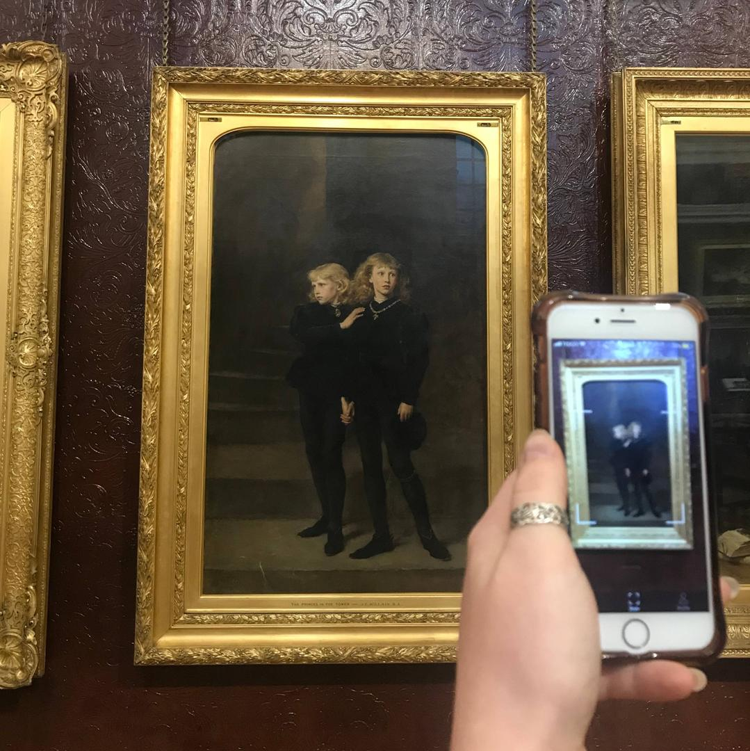 Audio Description Tour of Royal Holloway's Gallery blurred background